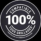 100% compatible tous grillages